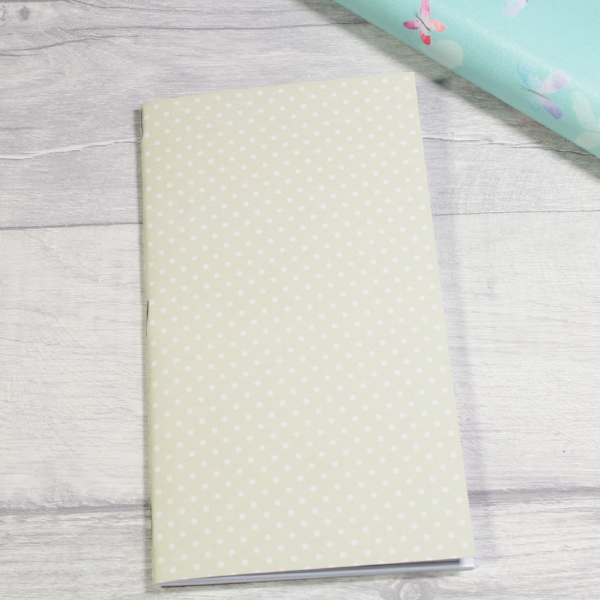 3 card tarot spread notebook tn insert personal size pale green white dots by KindaKookie