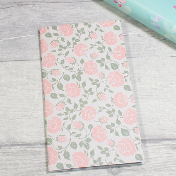3 card tarot spread notebook tn insert personal size pink roses by KindaKookie