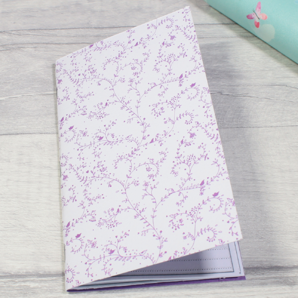 3 card tarot spread notebook tn insert personal size purple leaves flourish by KindaKookie