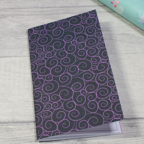 3 card tarot spread notebook tn insert personal size purple swirls by KindaKookie