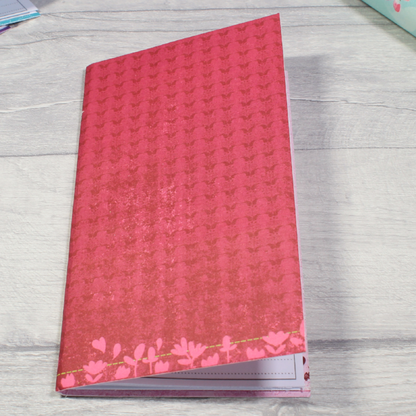 3 card tarot spread notebook tn insert personal size red butterflies flowers by KindaKookie