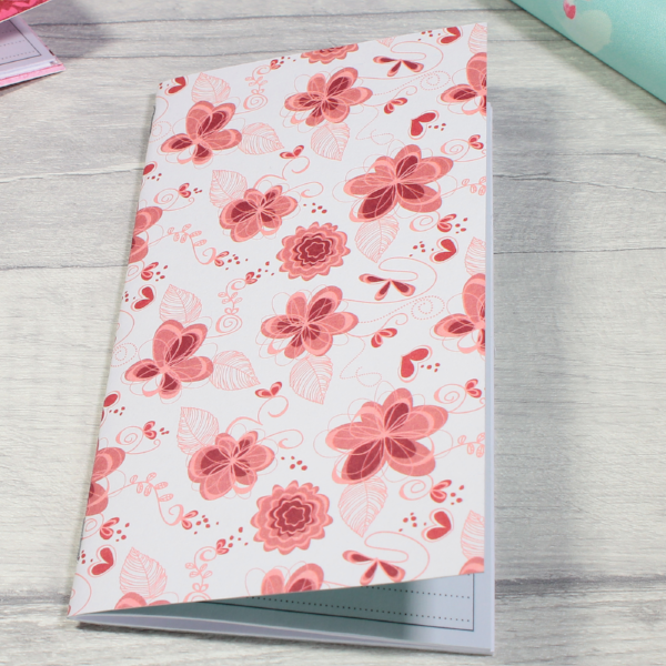 3 card tarot spread notebook tn insert personal size red white flowers by KindaKookie