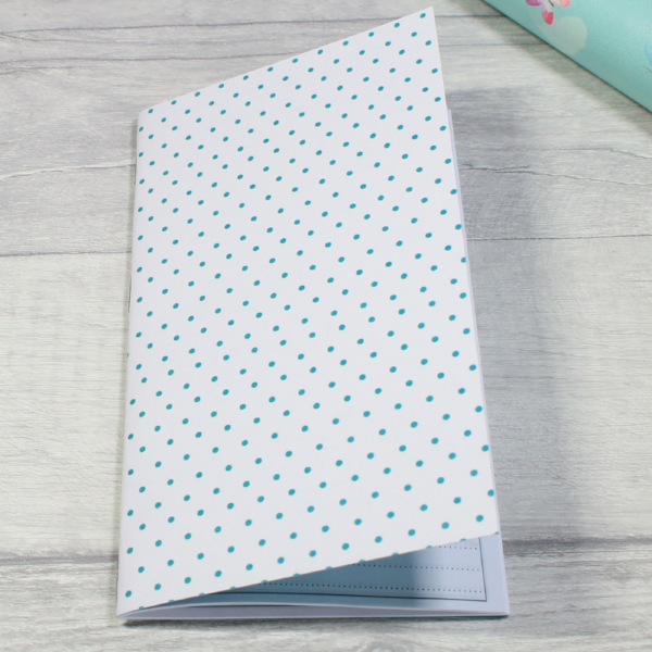3 card tarot spread notebook tn insert personal size small teal dots by KindaKookie