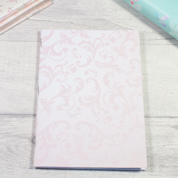 Rune Reading Journal Notebook Diary pagan planner tn insert B6 pink white flourish by KindaKookie