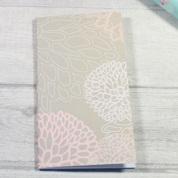 Rune Reading Journal Notebook Diary pagan planner tn insert personal size grey pink white flowers by KindaKookie