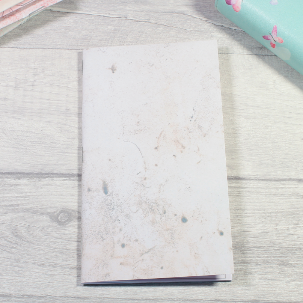 Rune Reading Journal Notebook Diary pagan planner tn insert personal size white pale pink grey smudge grunge by KindaKookie