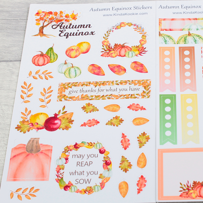 Autumn Equinox Seasonal Journal Diary Planner Stickers by KindaKookie