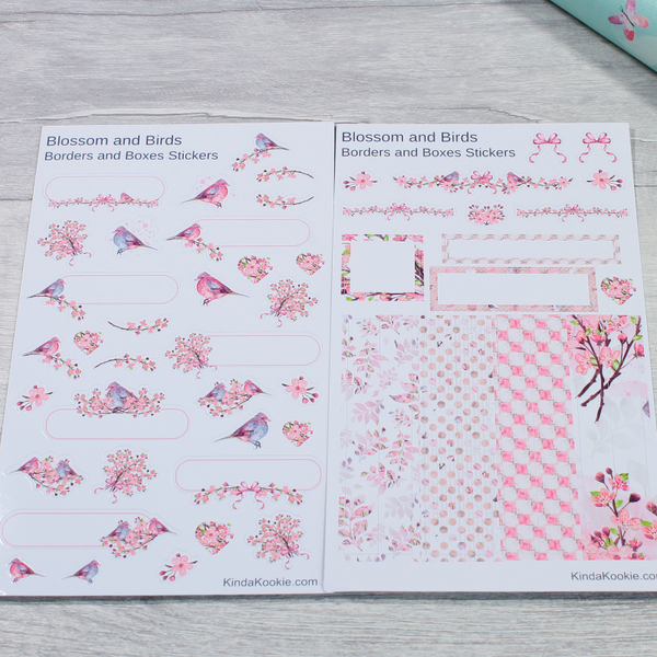 Blossom and Birds Journal Diary Planner Layout Stickers by KindaKookie