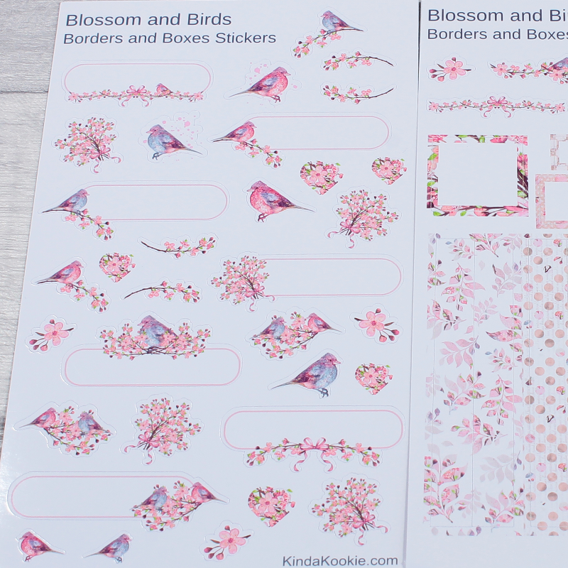 Blossom Birds Office Stationery Stickers by KindaKookie
