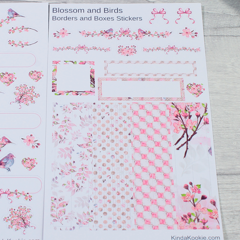 Blossom and Birds Decorative Stickers by KindaKookie