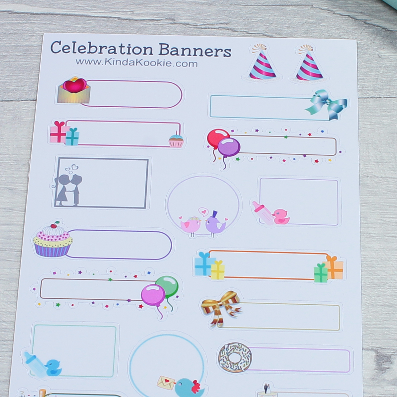 Occasion and Celebration Decorative Journal Notebook Diary Planner Stickers by KindaKookie
