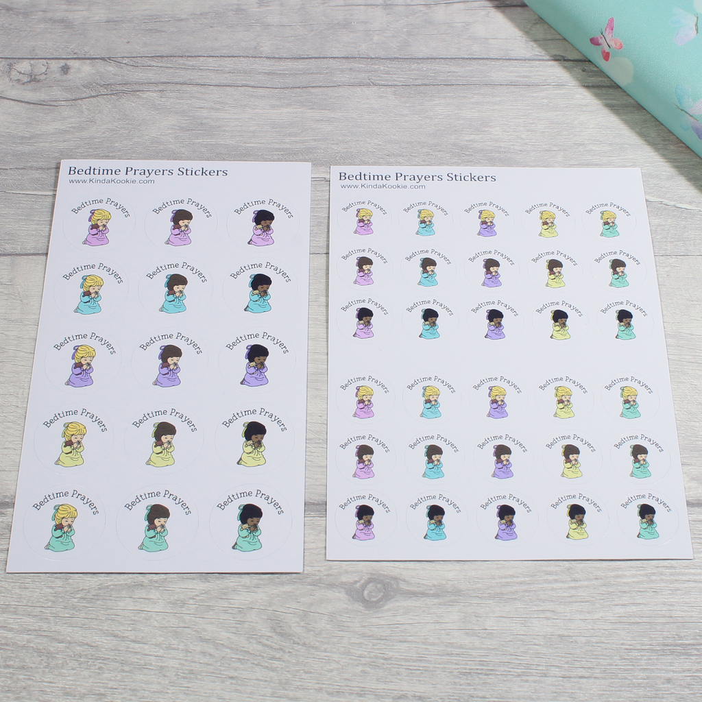 Small and Large Bedtime Prayers Stationery Notebook Journal Reward Planner Stickers by KindaKookie
