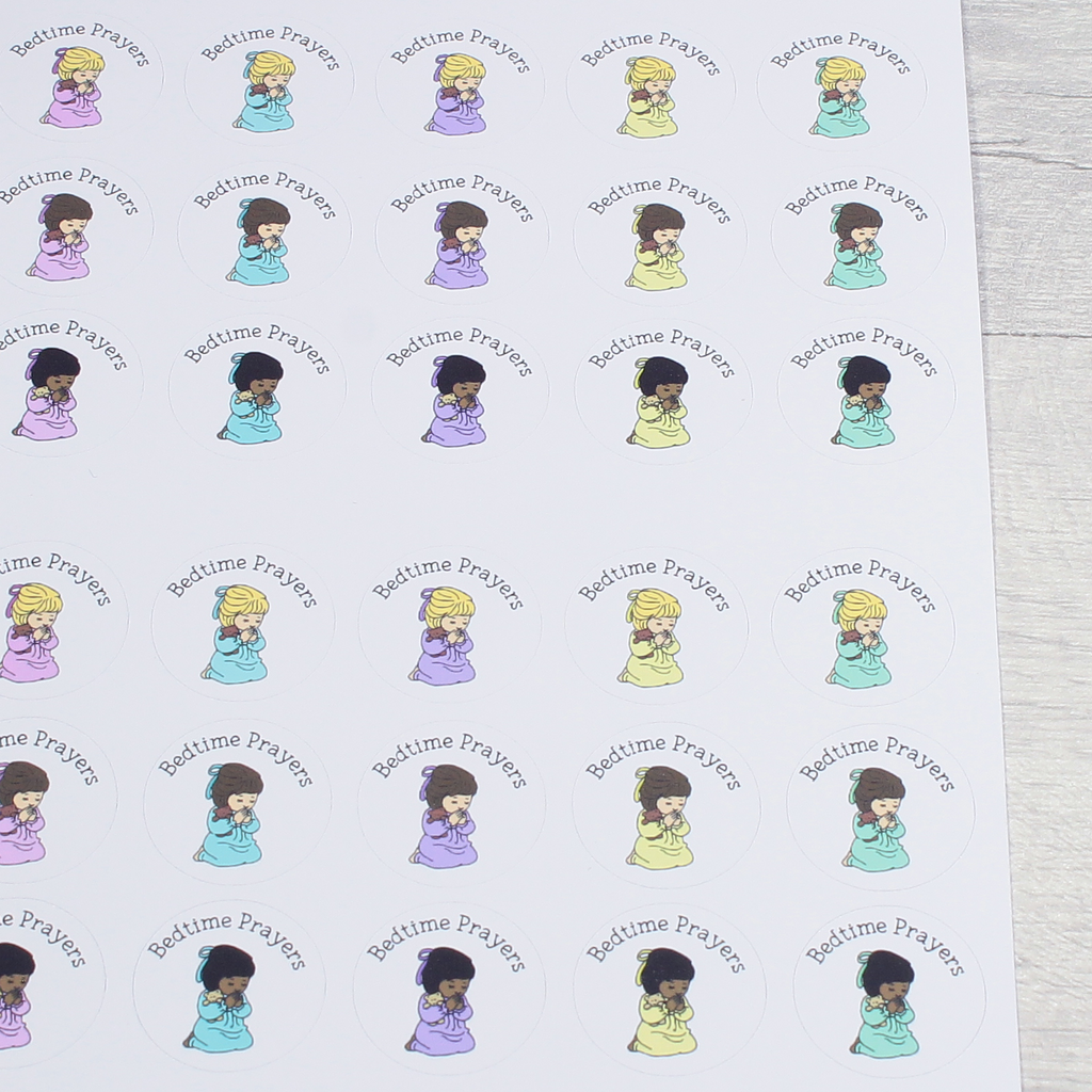 Small Bedtime Prayers Stationery Notebook Journal Reward Planner Stickers by KindaKookie