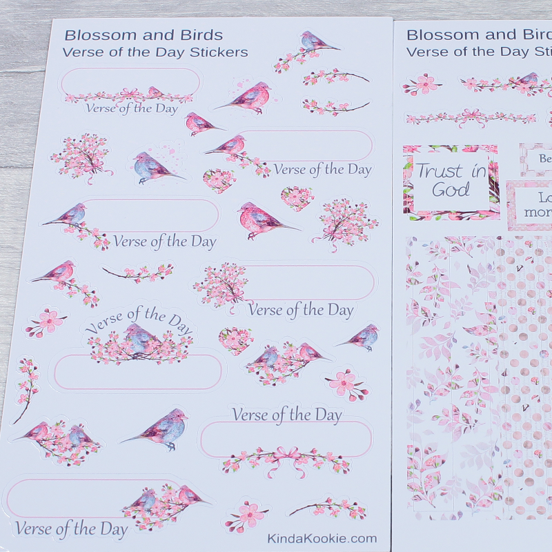 Christian Decorative Journal Notebook Planner Stickers by KindaKookie
