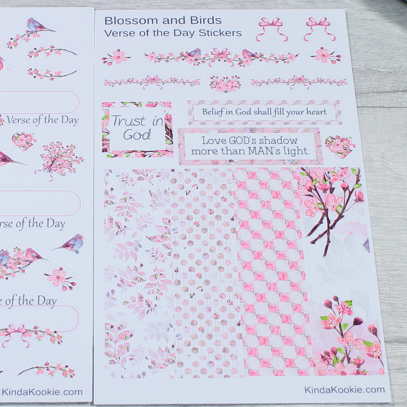 Christian Stickers Verse of the Day Journal and Planner Stickers by KindaKookie