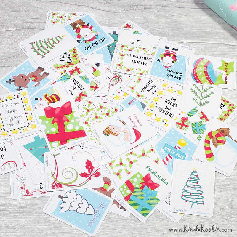 Christmas Themed Happy Mail Penpal Swapsies Stickers by KindaKookie