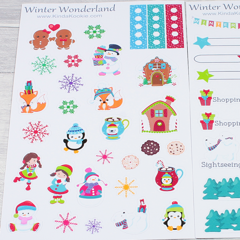 Christmas Planner Stickers Winter Wonderland by KindaKookie