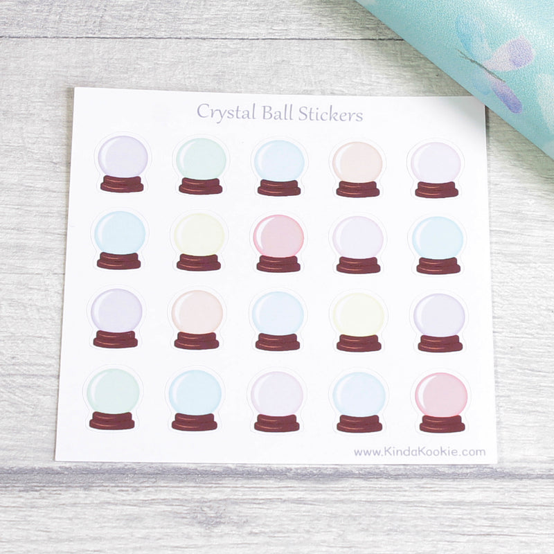 Crystal Ball Pagan Planner Stickers for Diaries Journals Notebooks and Happy Mail by KindaKookie