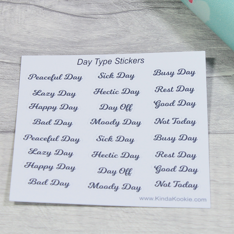 Different Types of Day Planner and Diary Stickers by KindaKookie