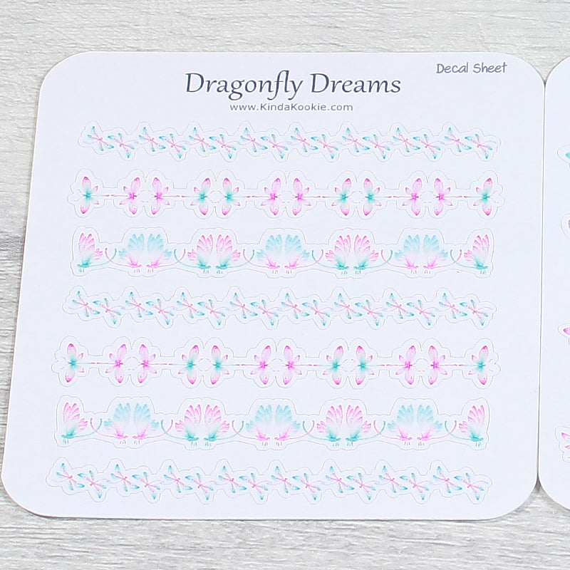 Dragonfly Dreams Divider Bars For Happy Mail Pocket Letters and Planner Decoration by KindaKookie