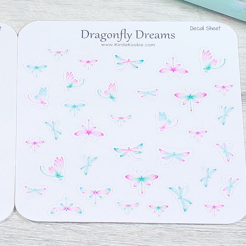 Dragonfly Dreams Decal Sheets For Our Matching Notepaper and Planner Kits by KindaKookie
