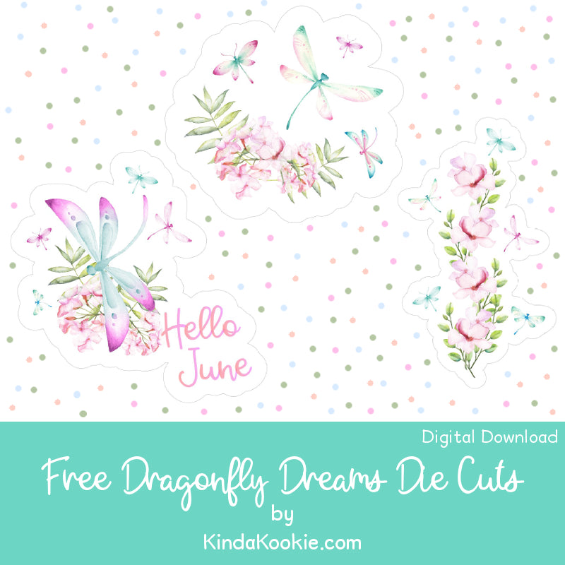 Free Printable Dragonfly Dreams Die Cuts by KindaKookie