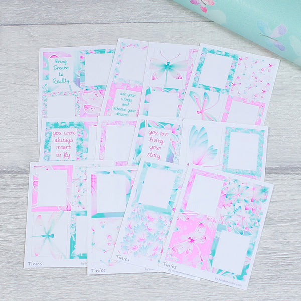 Dragonfly Dreams Tinies Stickers for Personal Monthly Planner Layouts by KindaKookie