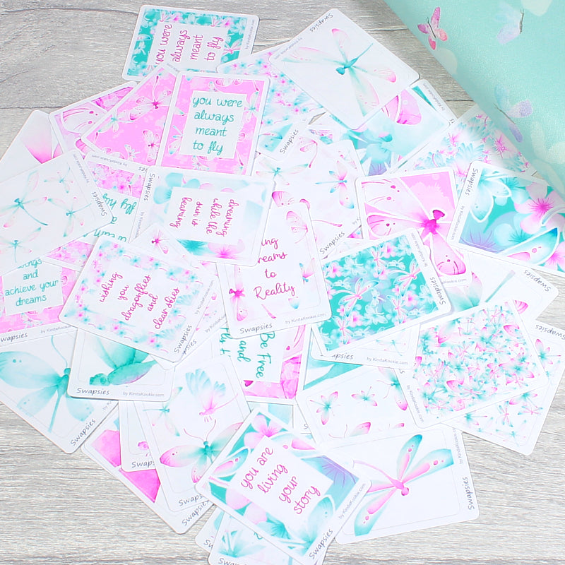 Dragonfly Dreams Swapsies stickers for Planners, Happy Mail and Pocket Letters by KindaKookie