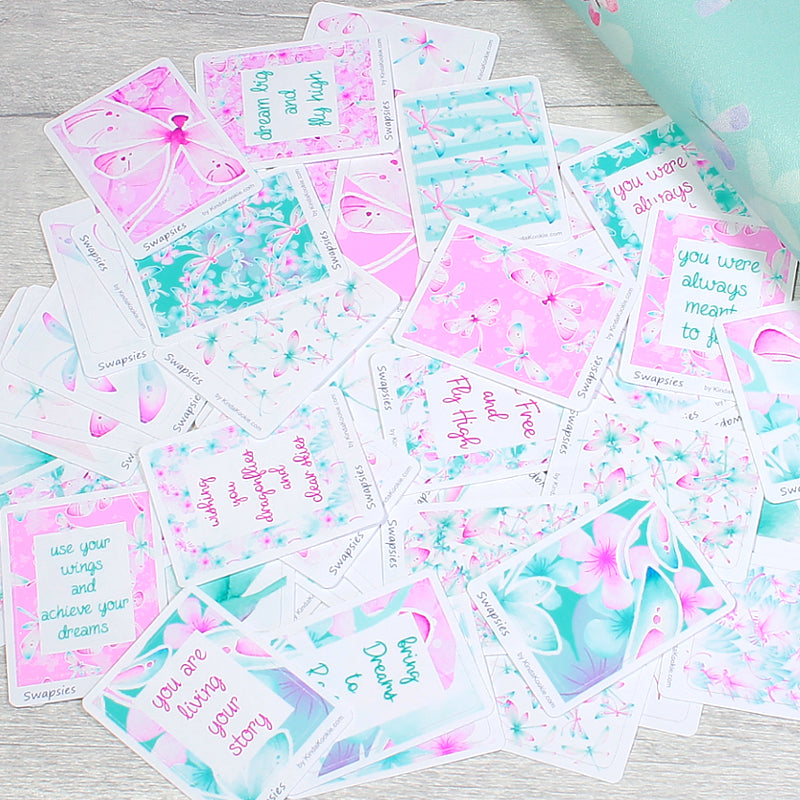 Dragonfly Dreams Swapsies Stickers for Happy Mail Pocket Letters and Planner Layouts by KindaKookie