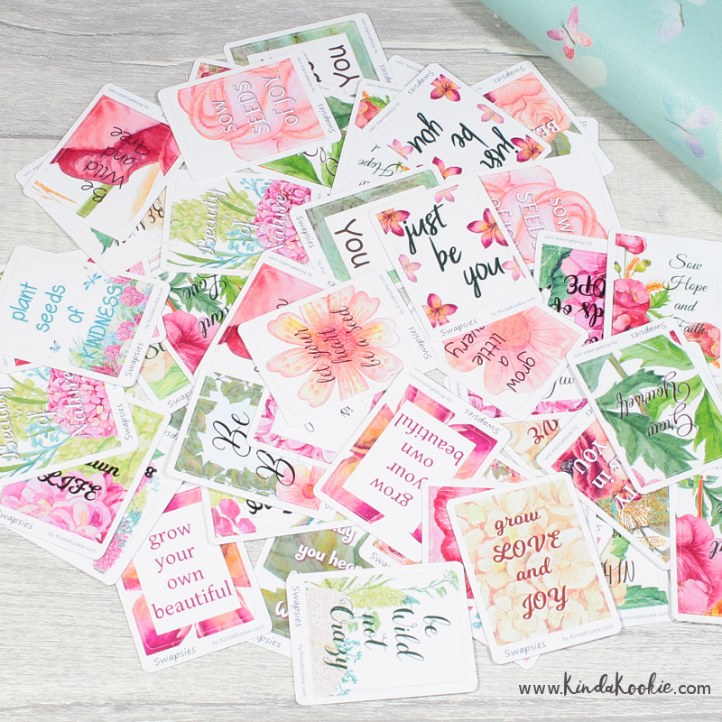 Summer Flower Floral Swapsies Stickers Quotes Inspirational Office Stationery by KindaKookie