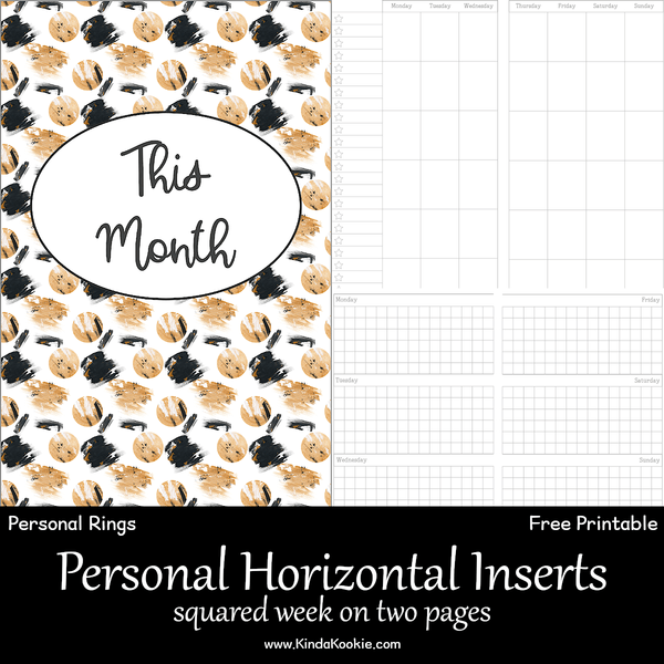 Free Personal Rings Horizontal Squared Week On Two Pages Inserts