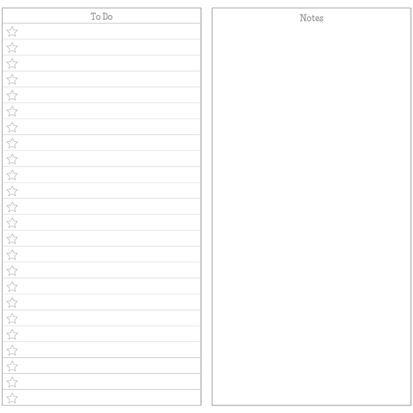 image relating to Free Printable Notes Pages named KindaKookie - Cost-free Unique Vertical Protected 7 days Upon 2 Webpages