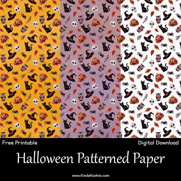 photograph about Printable Halloween Paper identified as KindaKookie - Totally free Halloween Electronic Papers Printable
