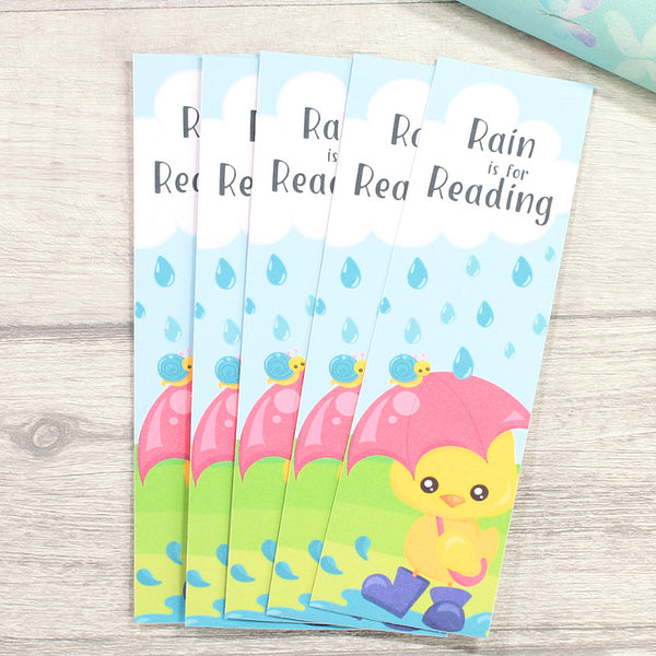 Rain is for Reading Bookmark by KindaKookie