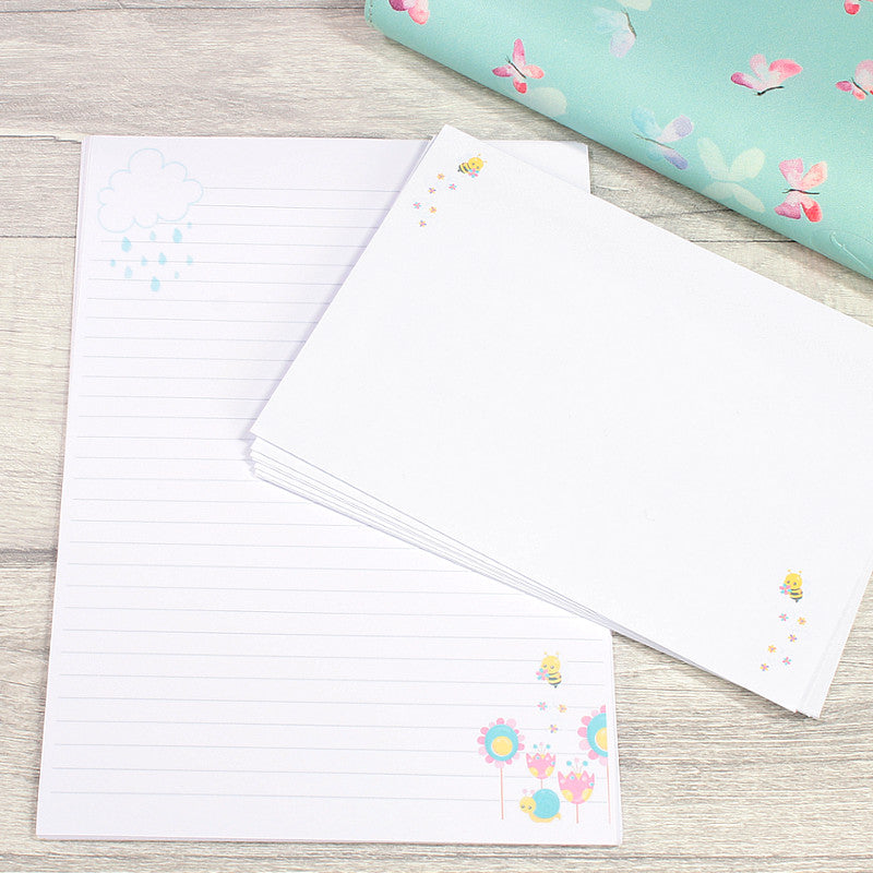 Hello Spring A5 Writing Paper Office Stationery PenPal Supplies Double Sided by KindaKookie