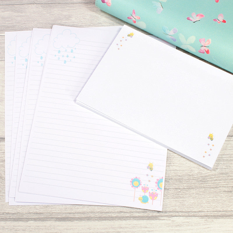 Hello Spring A5 Lined Writing Paper Penpal Paper by KindaKookie