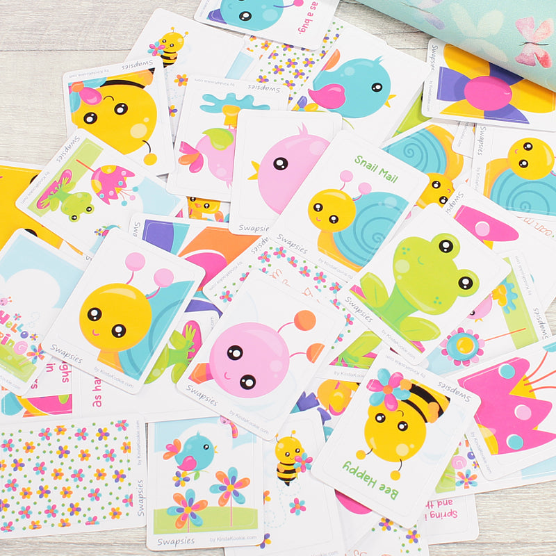 Hello Spring Swapsies Happy Mail and Pen Pal Stickers by KindaKookie