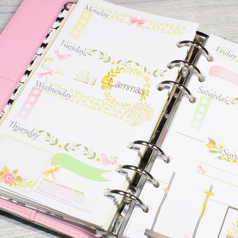 Lammas Pagan decorative Journal Notebook Diary Planner Stickers by KindaKookie