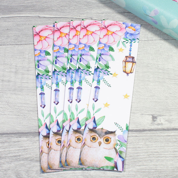 Magical Woodland Purple Crystal Forest Bookmark for Planners or Bookworms by KindaKookie