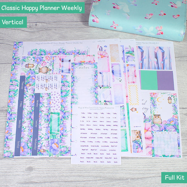 Magical Woodland Classic Happy Planner Weekly Layout Kit Full by KindaKookie