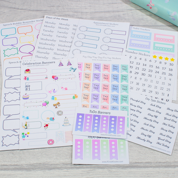 Functional Planner Sticker Mega Bundle by KindaKookie