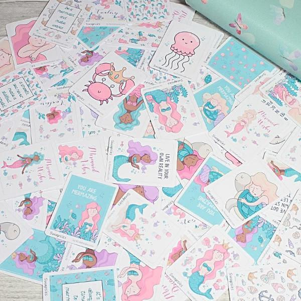Mermaids Stationery Swapsies Happy Mail Penpal and Planner Stickers by KindaKookie