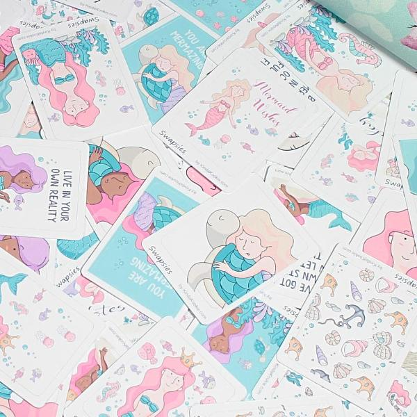 Mermaid Swapsies Penpal Swaps Happy Mail and Planner Stickers by KindaKookie