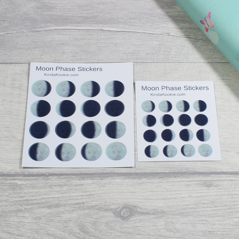 Pagan Planner Moon Phase Stickers Pagan Stationery by KindaKookie