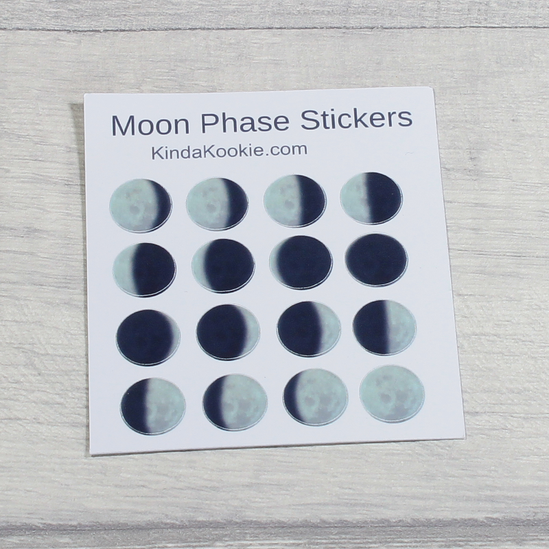 Mini Moon Phase Stickers Pagan Stickers for Diaries and Planners by KindaKookie