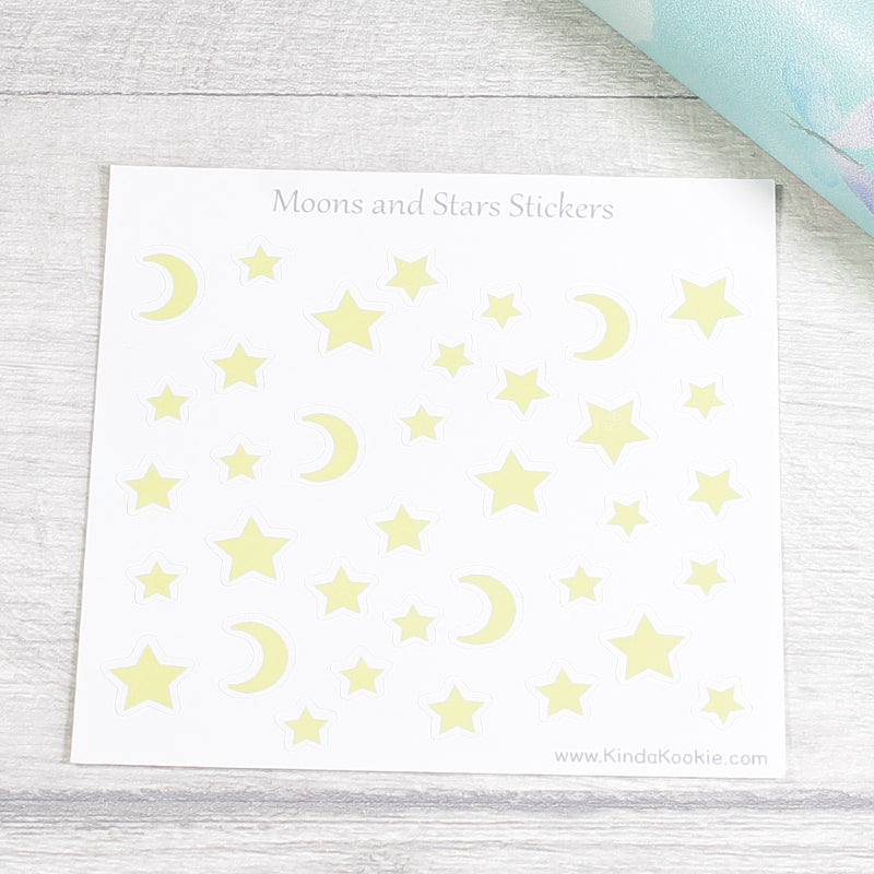 Moon and Stars Pagan Planner Journal Notebook New Age Stickers by KindaKookie