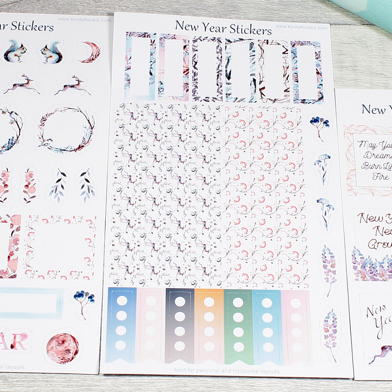 New Year Planner and Journal Stickers by KindaKookie