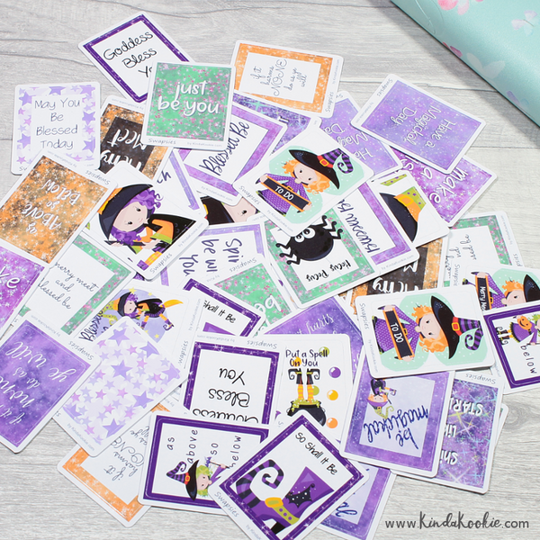 Pagan Themed Witch Happy Mail Penpal Swapsies Stickers by KindaKookie