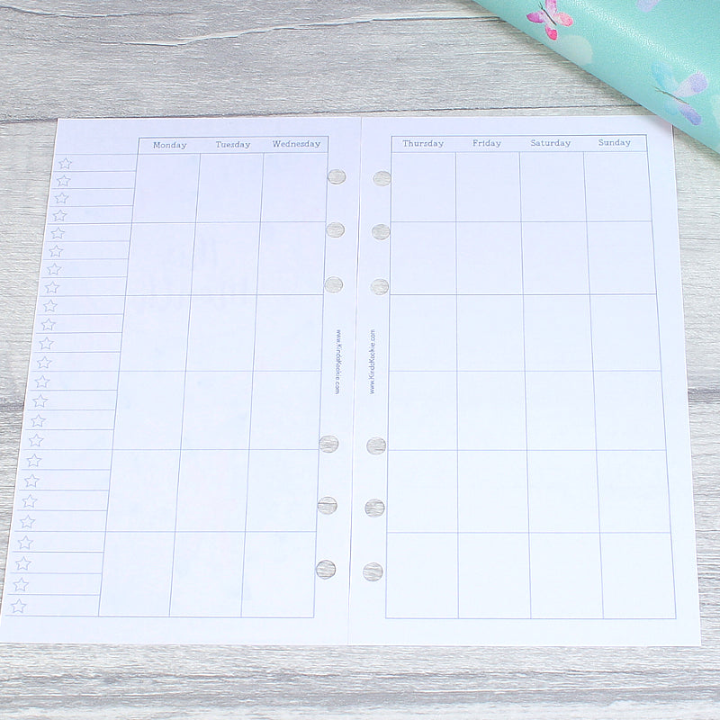 Personal Planner Inserts Monthly Overview for Filofax and KikkiK by KindaKookie