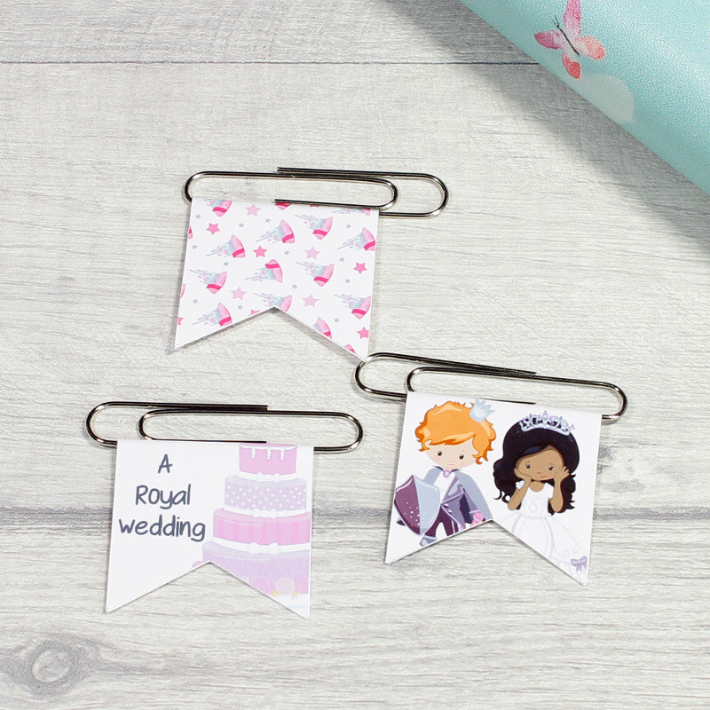 Set of 3 Royal Wedding Paper Clips. Fun Office Stationery and Planner Decoration by KindaKookie